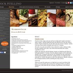 Nick Stellino - Mushroom Salad
