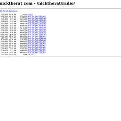 nicktherat.com - /nicktherat/radio/