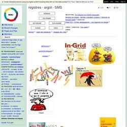 registres - argot - SMS