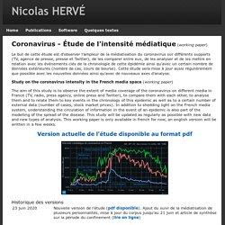 Nicolas HERVÉ Main/Etude-Coronavirus