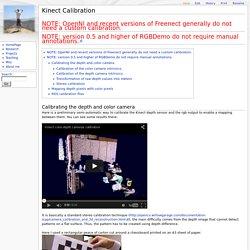 Nicolas Burrus Homepage - Kinect Calibration