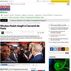 Nicolas Hulot réagit à l'accord de Paris