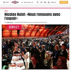 Nicolas Hulot: «Nous renouons avec l'espoir»
