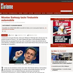 Nicolas Sarkozy tacle l'industrie automobile