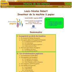 Louis-Nicolas Robert, inventeur de la machine à papier