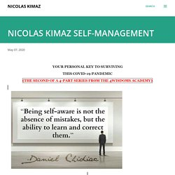 NICOLAS KIMAZ SELF-MANAGEMENT
