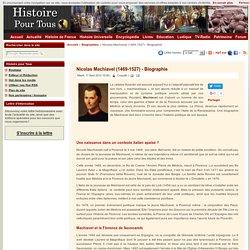 Nicolas Machiavel (1469-1527)