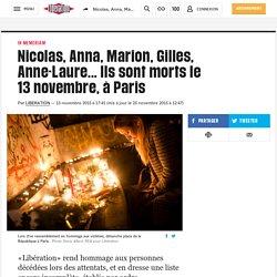 Attaques de Paris: qui sont les victimes
