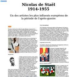 Nicolas de Stael le peintre le plus raffiné de l'art moderne