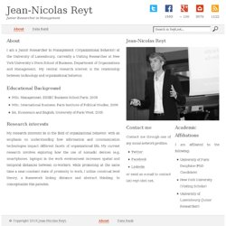 Jean-Nicolas Reyt - Blog e-business et e-marketing
