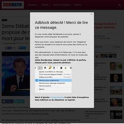 2eme Débat: Nicolas Sarkozy propose de rétablir la peine de mort pour les kamikazes.