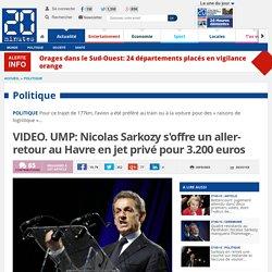 UMP: Nicolas Sarkozy se rend au Havre en jet privé pour 3.200 euros
