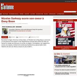 Nicolas Sarkozy ouvre son coeur Dany Boon
