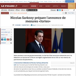 Conjoncture : Sarkozy va annoncer une hausse de la TVA de 1,6 point
