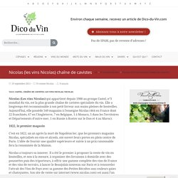 Nicolas (les vins Nicolas) chaîne de cavistes
