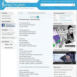 Nicole Scherzinger – Boomerang Lyrics