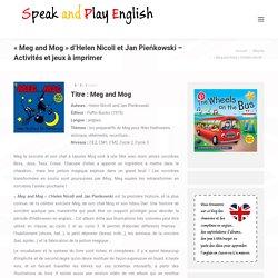 Meg and Mog d'Helen Nicoll et Jan Pieńkowski - Activités et jeux à imprimer sur l'album