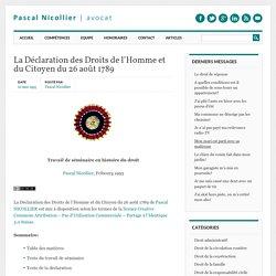 La Déclaration des Droits de l'Homme et du Citoyen du 26 août 1789