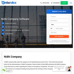 Nidhi Company Loan Software