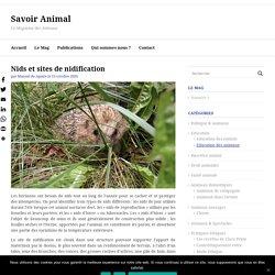 Nids et sites de nidification » Savoir Animal