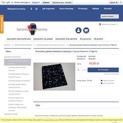 Dresówka pętelka Niebieska Galaktyka: Czarny Premium 270g/m2 SprzedajemyTkaniny.pl