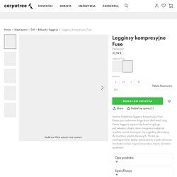 Męskie Niebieskie legginsy kompresyjne Fuse - Carpatree