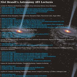 Niel Brandt's Astronomy 485 Lectures