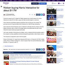 Nielsen buying Harris Interactive for about $117M
