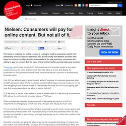 Nielsen: Consumers will pay for online content. But not all of i