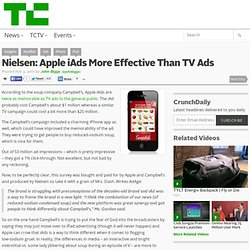Nielsen: Apple iAds More Effective Than TV Ads