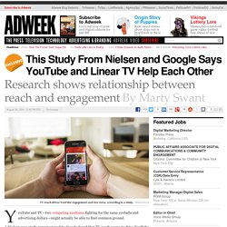 This Study From Nielsen and Google Says YouTube and Linear TV Help Each Other