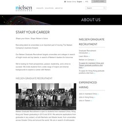 Nielsen Graduate Recruitment (China, Hong Kong, Taiwan)