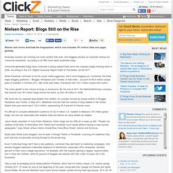 2012 Nielsen Report: Blogs Still on the Rise