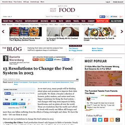 13 Resolutions to Change the Food System in 2013