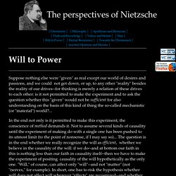 Nietzsche Quotes: Will to Power