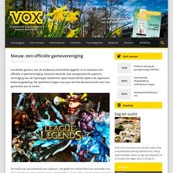 Nieuw: een officiële gamevereniging