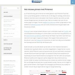 Het nieuwe pinnen met Pinterest