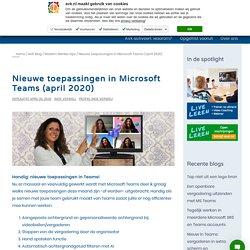 Nieuwe toepassingen in Microsoft Teams (april 2020) - AVK