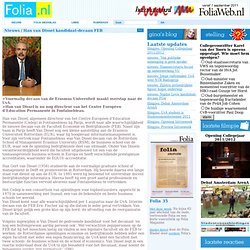 Folia: Han van Dissel kandidaat-decaan FEB