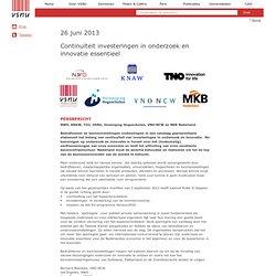 VSNU: Continuïteit investeringen in onderzoek en innovatie essentieel