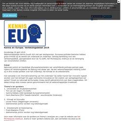 Nieuwsbericht - 16 mei van 17:00 - ca. 18:45 uur Campus Den Haag - Turfmarkt 99, Den Haag
