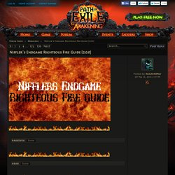 Niffler´s Endgame Righteous Fire Guide [2.0.0]