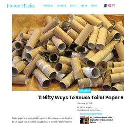 Stop throwing away empty toilet paper rolls. Here's 11 ways to reuse them aro...