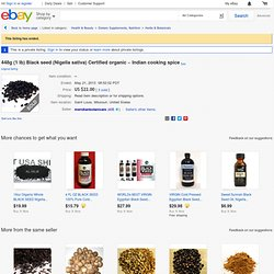 448G 1 lb Black Seed Nigella Sativa Certified Organic Indian Cooking Spice