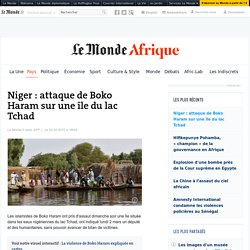 Niger : attaque de Boko Haram sur une île du lac Tchad