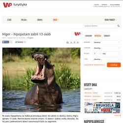 Niger - hipopotam zabił 13 osób