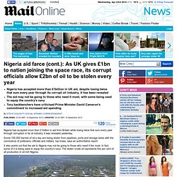 Nigeria accepts more than £1bn UK aid, while its corrupt officials allow £2bn of oil to be stolen every year