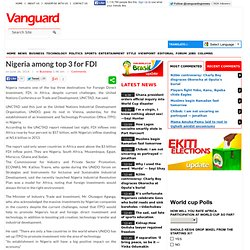 Nigeria among top 3 for FDI