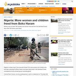 Nigeria: More women and children freed from Boko Haram