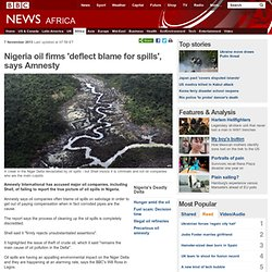 Nigeria oil firms 'deflect blame for spills', says Amnesty